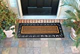 Ehc Extra Large Non-Slip Outoor Or Indoor Entrance Rubber Coir Door Mat - 120cm x 45cm