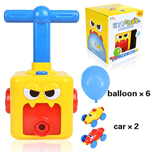 Power Balloon Car for Kids As Best Educational Toys - Manual Balloon Pump Toy for Outdoor Party Backyard Supplies Preschool Educational Science Car Toy for Boy and Girl of 3+