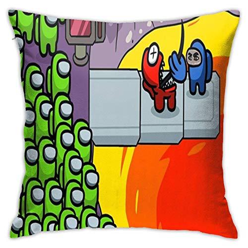 DJNGN Amo-N-G U-S - Cojín con Estampado Digital 3D Decorativo Cómodo Suave Felpa Divertida Almohada con Forma de Comida Cojín de Asiento Ligero Cojín para sofá Sillón Sofá de Piso Talla única
