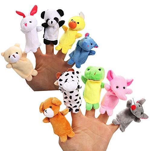 thematys Pupazzi da Dito in 2 Diversi Disegni - 10 e 5 Pezzi - Bambole Animali Draghi Peluche per Ragazzi e Ragazze (Style 1)