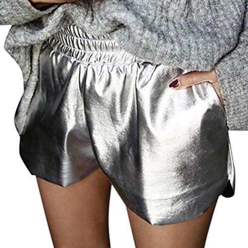 Adelina Shorts Dames zomer korte broek effen leder brede pijpen medium modieuze taille losse strand sport hot pants