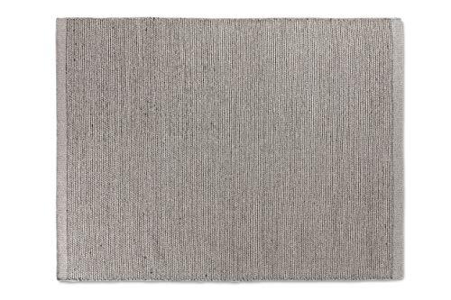 LIFA LIVING Handangefertigter Wollteppich im Vintagestil, 70% Wolle und 30% Baumwolle 140 x 200cm...