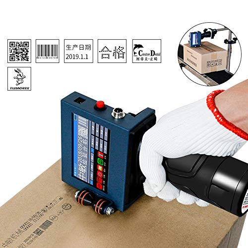 Tragbarer Handheld Drucker Tintenstrahldrucker Drucker 600DPI - Touchscreen Drucker für Marken, Logos, Grafiken, Datumscodierer, Etiketten usw (Inkjet Printer)
