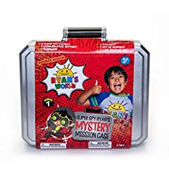 Based on Ryan's World, the most popular kids YouTube channel on the planet Set includes – mystery spy case, 3 exclusive spy-themed figures, 2 wrist communicators, flashlight, goggles, code-breaker spinner, stickers and accessories Kids can be just li...