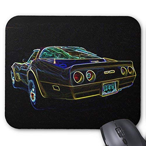 UOOPOO 1980 Corvette Mouse Pad Rectangle Non-Slip Rubber Personalized Mousepad Gaming Mouse Pads 8.2 x 10.2 x 0.12 Inch(Pattern: Print)