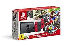 Nintendo Switch Konsole Rot + Mario Odyssey