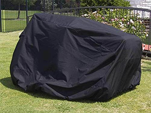 Covermates Zero Turn Mower Cover - Heavy-Duty Polyester, Weather Resistant, Drawcord Hem, AC & Equipment-Ripstop Black