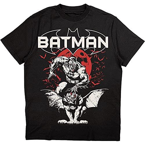 DC Comics Batman T Shirt Gargoyle Nuevo Oficial Hombres Negro Size XL