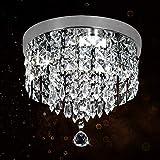 LED cristallo Design Lampada A Sospensione Anelli lampada a sospensione lampadario creativo Applique da soffitto in stile moderno (Round Cool White)