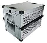 Extreme Consumer Products Large Folding Dog Crate Deluxe - Collapsible Travel Carrier with Reinforced Construction