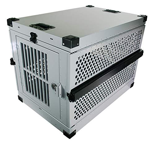 Extreme Consumer Products Large Folding Dog Crate Deluxe - Collapsible Travel Carrier with Reinforced Construction Categories
