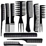 ZOEON Lot de 10 Peigne, Coiffeur Barbiers Peigne pour Salon