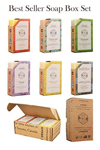 Crate 61 Best Seller Soap 6-Pack Box Set, 100% Vegan Cold Process Bar Soap, scented with premium essential oils and…