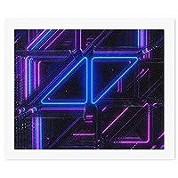 紫の光 アヴィーチーDIY 数字油絵 キャンバスの油絵 手塗り 57* 47 cm 絵画 大人の子供のためのギフト 数字キットでペイント インテリア アートフレーム ホームデコレーション