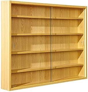 Inter Link Simply Vitrina de madera MDF y vidrio Marrón 80 x 9.5 x 60 cm