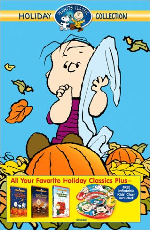 Peanuts Classic Holiday Collection (A Charlie Brown Christmas/A Charlie Brown Thanksgiving/It's the Great Pumpkin, Charlie Brown) + Inflatable Chair [VHS]