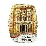 Weekinglo Souvenir Petra en Jordania Imán de Nevera 3D Resina Artesanía Hecha A Mano Turista Ciudad de Recuerdos de Recuerdos Carta de Refrigerador Etiqueta