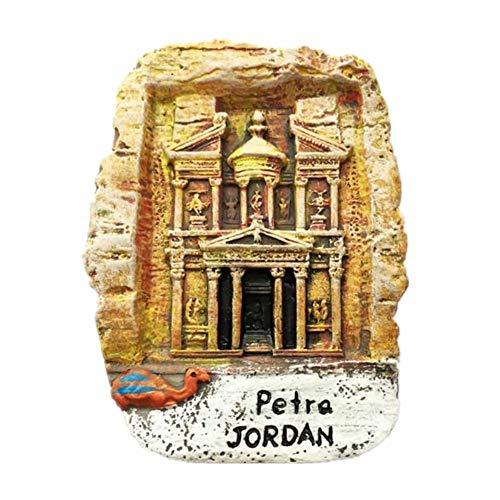 baratos y buenos Weeking Lopetra Jordan Souvenir 3D Imán para nevera Hecho a mano Resina Artesanía Turistas … calidad