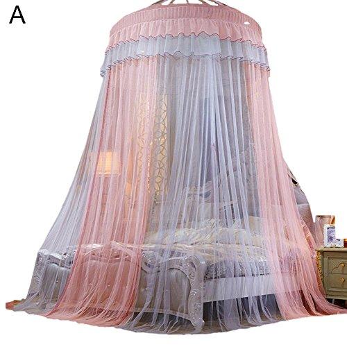 Tianxiu Betthimmel Bettzelt Colorblocking Dome Prinzessin Queen Bett Moskitonetz voller Größe Betthimmel für Baby, Kinder, Mädchen oder Erwachsene