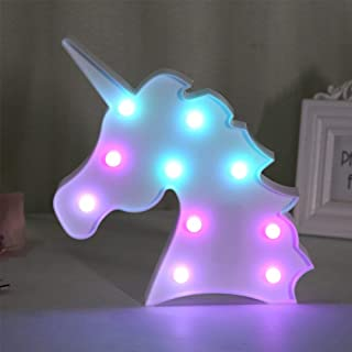 QC Life Colorful Unicorn LED Light Night Lights Lamp Wall Decoration Decorative Sign for Party/Wedding/Kid Birthday Party/Holiday Celebrations