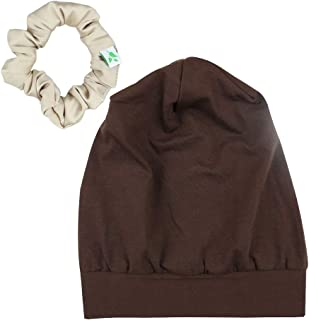 Slap Cap,Silk Satin Lined Sleeping for Curly Hair Women,Outer-Soft Cotton Durable Elasticity Available Day and Night