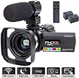 Camcorder Video Camera YEEHAO WiFi HD 1080P 24MP 16X...