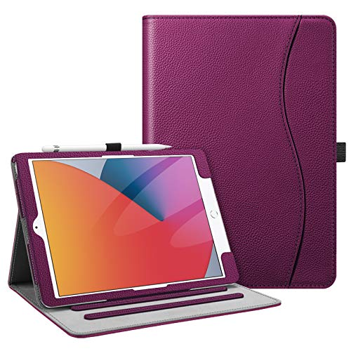 Fintie Case for New iPad 8th Gen (2020) / 7th Generation (2019) 10.2 Inch - [Corner Protection] Multi-Angle Viewing Folio Stand Cover with Pocket, Pencil Holder, Auto Wake/Sleep, Purple