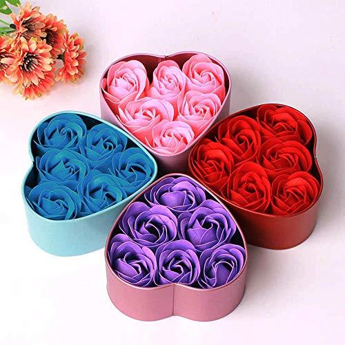 SHEDRWE Blumenseife Rosenseife 6 Stück Herzduft Duschgel Blütenblatt Seifenkiste Hochzeitsdekoration Festival
