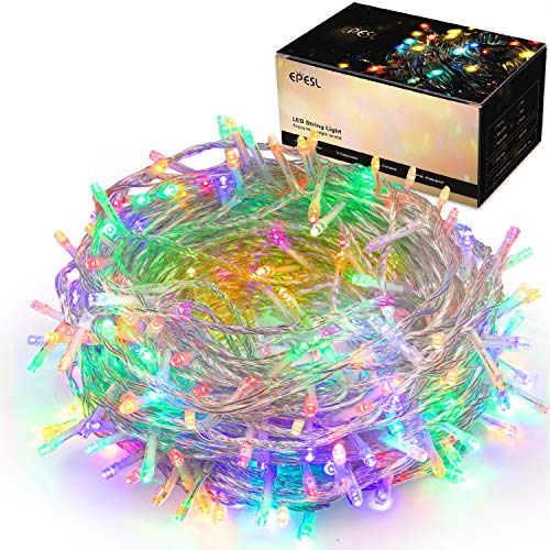 320LEDs Christmas String Lights, 32m/105ft 8 Modes Memory Function End-to-End Extendable Plug in Waterproof Indoor/Outdoor Fairy Twinkle Lights for Thanksgiving Day/Hallowmas/Wedding/Patio - Colorful