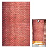 Platform 9 And 3/4 King's Cross Station Red Brick Wall Party Backdrop, Secret Passage To The Magic School Decorative,Fabric 50x79 Inch Polyester Door Curtain for Christmas Decor.