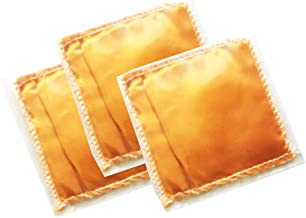 Fresh Fortune Sandalwood Natural Sandal Powder Fragrance Sachets (Packet Size 3.5'', Orange) -Pack of 3