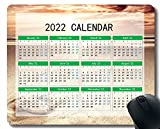 2022 Calendario Mouse Pad, Sand Sea Beach Sky Light Anti Slip Goma Mousepads