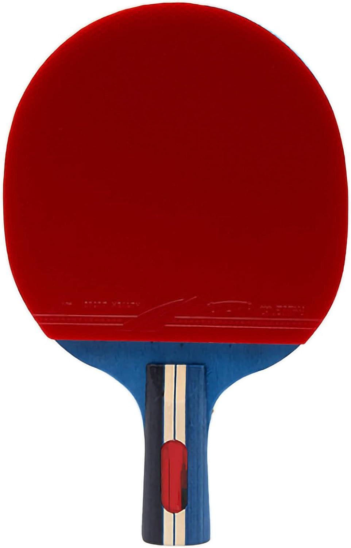 HXFENA Palas de Ping Pong,2 Estrellas Ligeros Profesionales Raquetas de Tenis de Mesa Duraderos CóModos Buen Control Adecuados para NiñOs Y Adultos/A/Mango corto