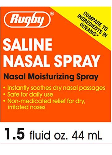 Rugby Saline Nasal Moisturizing Spray 1.5 Oz (Pack of 3)