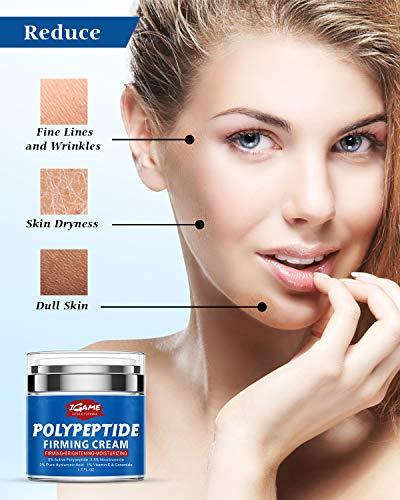 5188S2svqQL - Polypeptide Face Cream, Anti Aging Face Moisturizer for Anti Wrinkles, Hydrating, Brightening, Moisturizers for face with Polypeptide, Nicotinamide, Hyaluronic Acid, Vitamin E