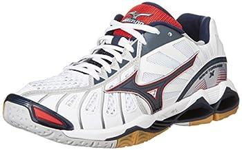 Mizuno Wave Tornado X Volleyball Shoes  US M10.5  Mens Unisex    28.5cm   White/Navy/Red