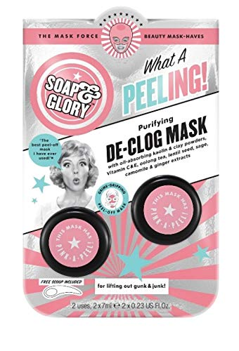 Soap & Glory WHAT A PEELING PURIFYING PEEL OFF MASK Free Scoop Included 2x 7ml