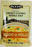 Alessi Brodo Di Pollo - Sicilian Premium Chicken Noodle Soup, 6-Ounce Packages (Pack of 2)