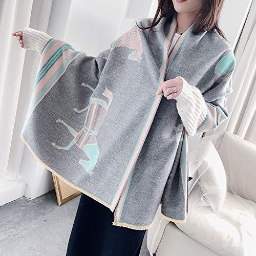 yishouhengcheng Schals Für Frauen 190x65cm Animal Print Winter Kaschmirschal Frauen Dicke Warme Tücher Wickelt Weibliche Decke Cape