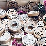 Abrebotellas Personalizados, abridores de botella con imán, detalles de boda, regalo original,...
