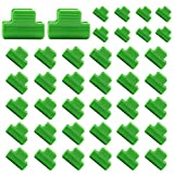 40 pcs Plastic Greenhouse Clamps Clips, Film Row Cover Netting Tunnel Hoop Clip, Frame Shelters Shading Net Rod Clip Greenhouse Film Clamp Season Plant Extension Support 0.62 inch