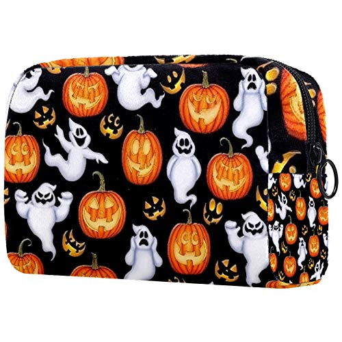Bolsa de maquillaje para mujer, bolsa organizadora de cosméticos, bolsa de aseo con cremallera de 19 x 7 x 12 cm, patrón de araña