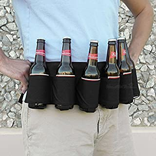BlueSunshine Beer and Soda Can Holster Belt, Holds 6 Cans, Perfect for Parties, Picnics, Camping, Hiking and Gift-Giving