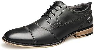 CAIFENG Business Oxford pour Hommes Chaussures de Loisirs Fashion Robe Chaussures Classiques à Lacets en Cuir véritable en...
