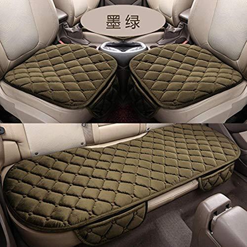 Auto Stoel Cover Winter Warm Fluwelen Zitkussen Universele Voorste Achterbank Stoel Pad voor SUV Voertuig Auto Seat Protector, groen, China
