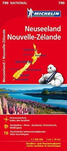 Michelin Neuseeland: Straßen- und Tourismuskarte 1:1 600.000 (MICHELIN Nationalkarten)