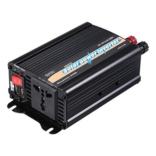 Bedler Inversor de Onda sinusoidal modificada de 800 vatios Inversor de Potencia de Alta frecuencia de Potencia Watt Convertidor de CC de 12 V a CA 220 V-240 V Inversor del Cargador de Corriente para