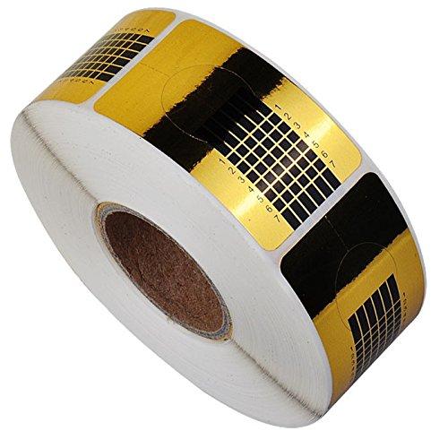 chaud Fille 500pc Nail formulaires pour la création de décorations Nail Art Outil de gel UV acrylique French Tips