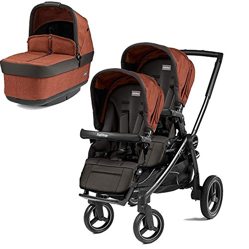 Lowest Price! Peg Perego Team Stroller w/ 2nd Popup Seat - Terracotta