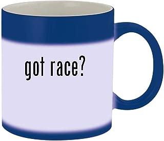 got race? - Ceramic Blue Color Changing Mug, Blue